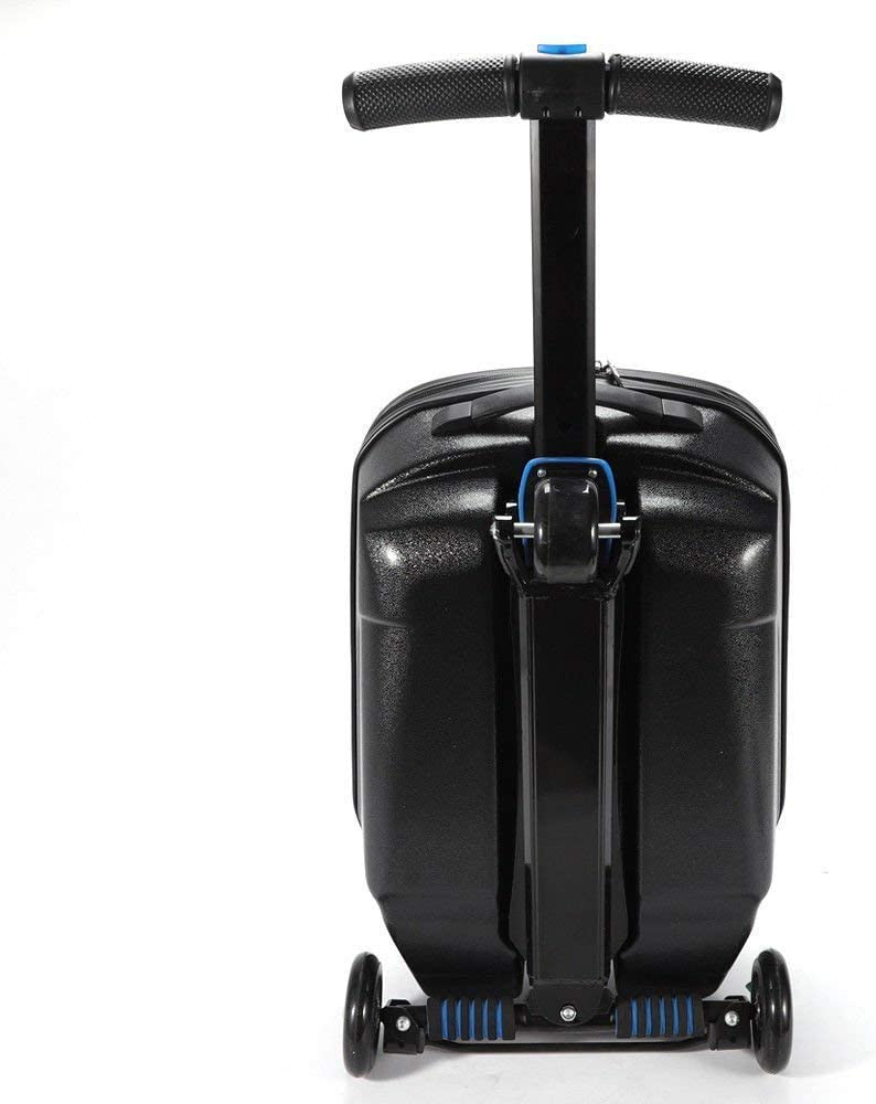 PRIT2016 20 Carry on Luggage Scooter 3 Wheels Case for Outdoor Travel//Business Scooter for Adult with Front Luggage Box Luggage Wheeled Suitcase Bag Waterproof Black/&Blue Black