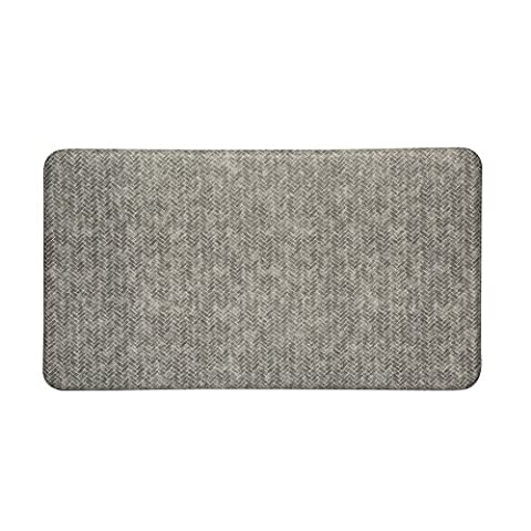 Imprint Cumulus9 Kitchen Mat Chevron Series 20 in. x 36 in. x 5/8 in. Dove (Imprint Comfort Mat Cumulus9)