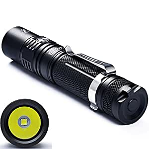 LED Flashlight Sofirn SP32 960 High Lumen Flashlight Torch Pocket Super Bright Cree LED V6 Torch 6 Modes for Outdoors (Cycling, Camping, Hiking), With Rechargeable 18650 Battery and USB Charger Set