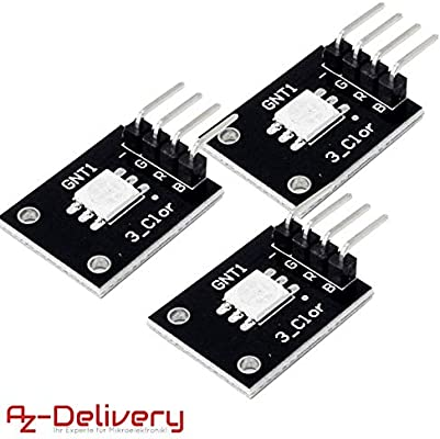 AZDelivery 3 x KY-009 Módulo sensor SMD LED RGB para Arduino con ...