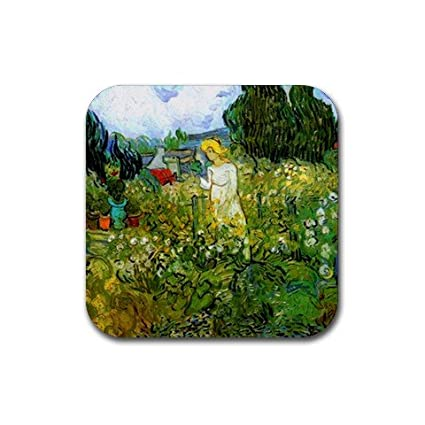 Merveilleux Marguerite Gachet In The Garden By Vincent Van Gogh Square Coasters
