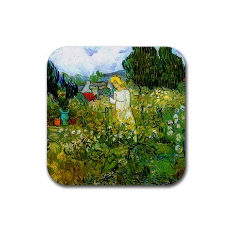 - Marguerite Gachet in the Garden By Vincent Van Gogh Square Coasters