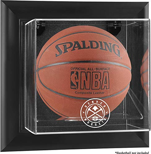 Sports Memorabilia Denver Nuggets Black Framed Wall-Mountable Team Logo Basketball Display Case - Basketball ()