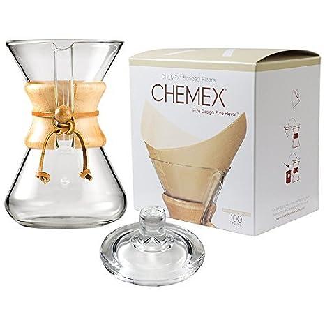 Chemex Cafetera 6 Tazas Classic cristal, cuadrados plegable ...