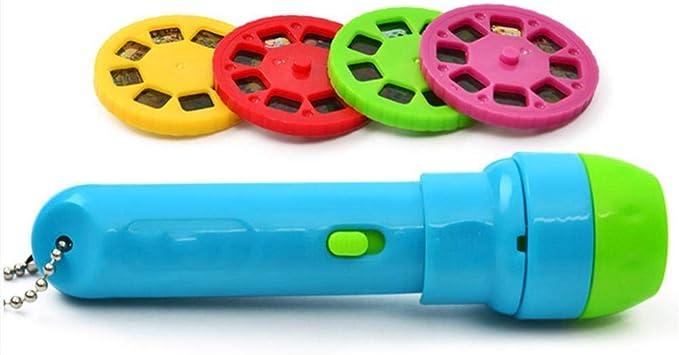Los niños Proyector Linterna, cuento, juguete educativo, linterna ...