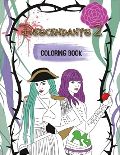 descendants 2 coloring book a wickedly cool coloring book for kids michelle angel 9781977904928 amazoncom books - Descendants Coloring Book