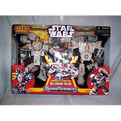 Star Wars Deluxe Transformer Millenium Falcon: Toys & Games