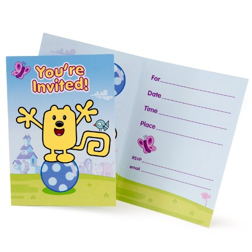 Unique Industries Wubbzy Invites - 8 ct -