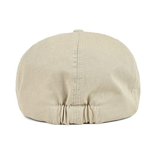 VOBOOM Cotton Washing Flat Cap Cabbie Hat Gatsby Ivy Irish Hunting Newsboy  (Khaki) 5c189a55577c