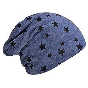 DonDon Berretto Invernale da Donna Slouch Beanie morbido con stampa stelle interno morbido e caldo 3