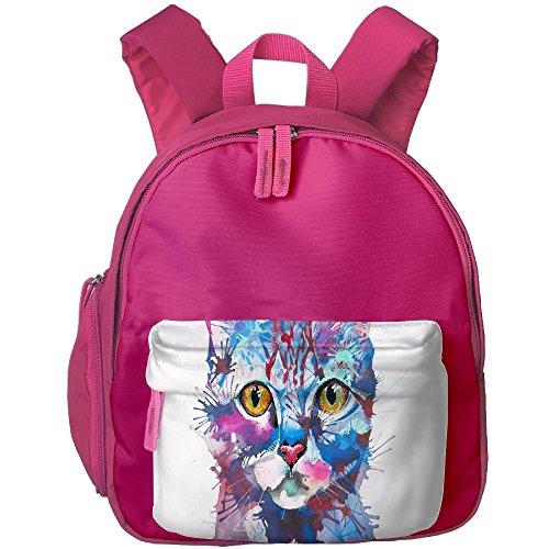 Original Cat Painting Children Fashion Adjustable Oxford Shoulderbag Mini School -