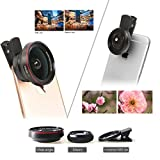 Universal Clip On iPhone Camera Lens Kit | 2 In 1 .6x Wide Angle & 12.5x Macro Phone Camera Lens | Pro Grade For iPhone 7 Plus, 6 Plus, Samsung Galaxy S7, Edge & Most Smartphones | by Volar Lens
