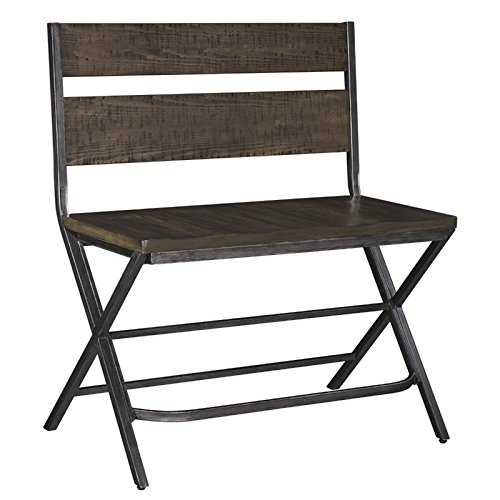Kavara Double Barstool in Medium Brown Finish (Scoop Back Bar Stool)