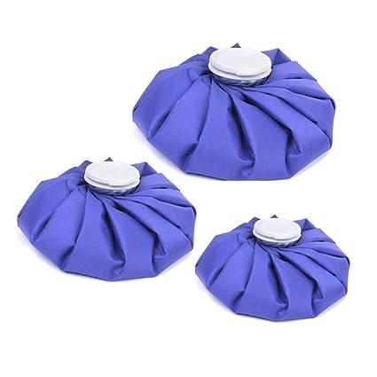JZK 3 Bolsas de reutilizable hielo y calor para lesiones deportivas aliviar dolores en lesiones, cuello, rodilla dolor, 3 tamaños grande, mediano, ...