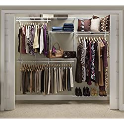 ClosetMaid 22875 ShelfTrack 5ft. to 8ft. Adjustable Closet Organizer Kit, White