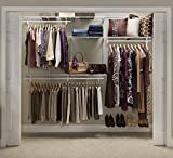 nice easy closet design  22875 ShelfTrack 5ft. to 8ft. Adjustable Closet Organizer Kit, White