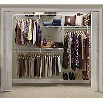 ClosetMaid 22875 ShelfTrack 5ft To 8ft Adjustable Closet Organizer Kit White