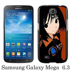 Samsung Galaxy Mega 6.3 I9205 Case ,Hot Sale And Popular Designed Samsung Galaxy Mega 6.3 I9205 Case With Nhk Ni Youkoso Nakahara Misaki Girl Brunette Smile Black Hight Quality Cover