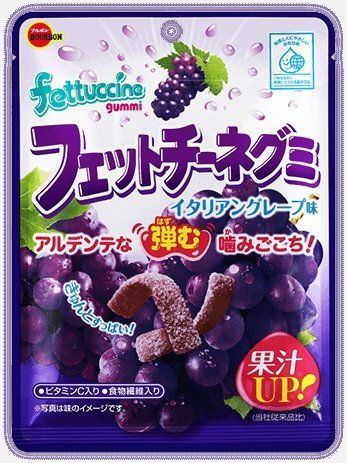 Bourbon fettuccine gummy Italian grape taste 50gX10 bags