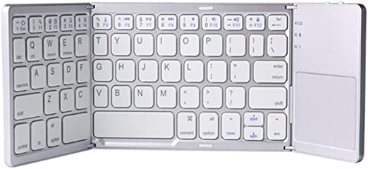 MaiTian Teclado Bluetooth Plegable con Teclado táctil táctil ...