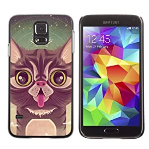 Designer Depo Hard Protection Case for Samsung Galaxy S5 / Cute Cat