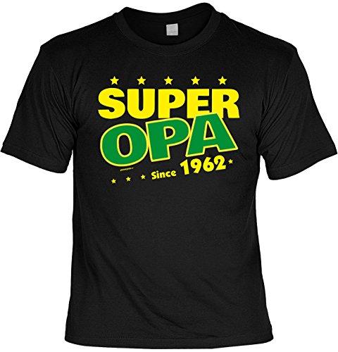 T-Shirt - Super Opa Since 1962 - lustiges Sprüche Shirt als Geschenk zum 55. Geburtstag