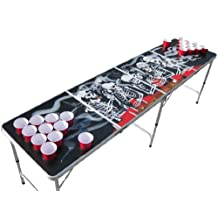 Bones Beer Pong Table with Holes and Hole Covers