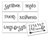 Wedding Stencil Words - For Guests - Fancy Funky 6pc Jumbo Set - STCL1595_4 by StudioR12