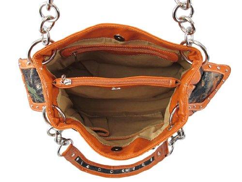 Things2Die4 , Damen Schultertasche orange Orange