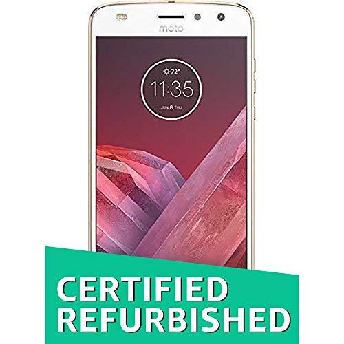 Renewed  Motorola Moto Z2 Play  Fine Gold, 64  GB   4  GB RAM