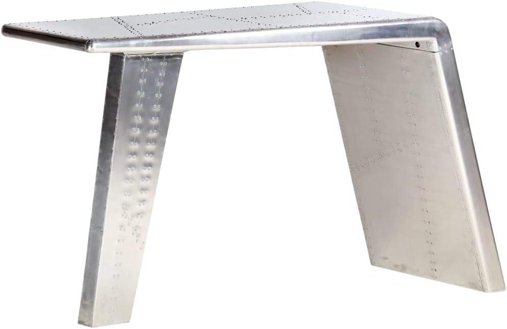 vidaXL Escritorio ala Avión Metal Mobiliario Decoración Casa Hogar ...