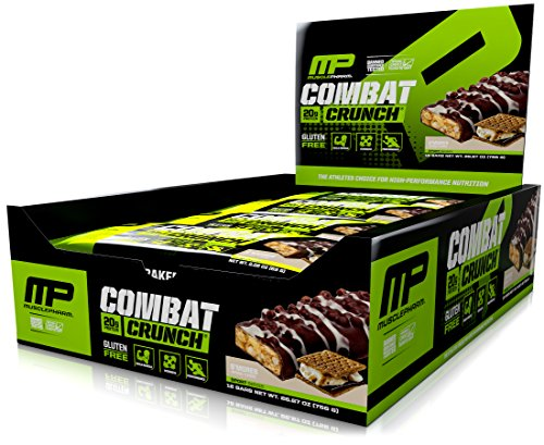 MusclePharm Combat Crunch Protein Bar, S'Mores, 12 Bars