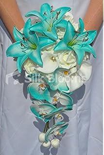 Amazon.com: Galaxy Blue Orchid Rose Calla Lily Tropical Wedding ...