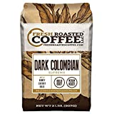 Fresh Roasted Coffee LLC, Dark Colombian Supremo Coffee, Medium-Dark Roast, Whole Bean, 2 Pound Bag