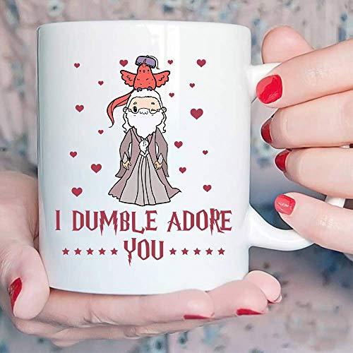 Professor Albus I Dumble Adore You Mug White Ceramic 11oz Tea Cup - White Coffee Mug - Personalised Dumble Adore You Enamel Mug