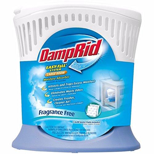 DampRid FG90 Moisture Absorber Easy-Fill System, Large Room 2-Pack by DampRid