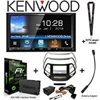 Kenwood Excelon DDX795 6.95 DVD Receiver iDatalink KIT-CHK1 Dashkit for Jeep cherokee, BAA23 Antenna Adapter, and ADS-MRR Interface Module and a SOTS Lanyard