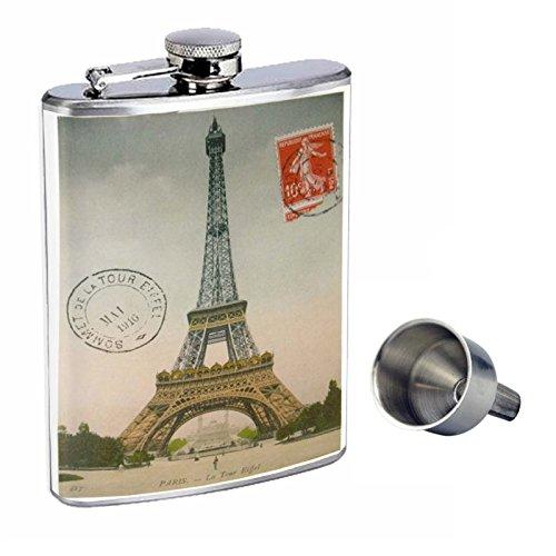 超熱 Perfection Inスタイル8オンスステンレススチールWhiskey Flask with Free with Funnel d-030 Funnel Perfection Eiffel Tower Paris Postcard Decorative Decoupageヴィンテージスタイル B017GKX1RK, 名入れプレゼント 名札工房:e2fb5d39 --- cfeedback.mycarebee.com