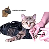 Cat Grooming Bag - MEDIUM, cat restraint bag + FREE Cat Muzzle by, Downtown Pet Supply