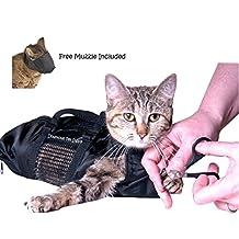 Cat Grooming Bag - MEDIUM, cat restraint bag + FREE Cat Muzzle by, Downtown Pet Supply