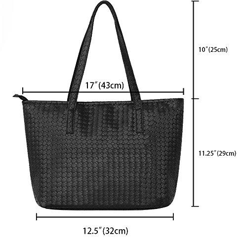 AuBer Handbag Shopper Faux Bags Bag Women Travel Large Totes Cross Leather Satchel Body Ladies Bags School Shoulder Bag Working Holiday Top Shopping College for Handle Hobo Capacity Girls rrwaTzq0