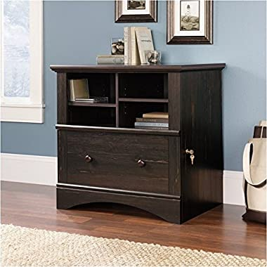 Sauder Harbor View Lateral File in Antiqued Paint