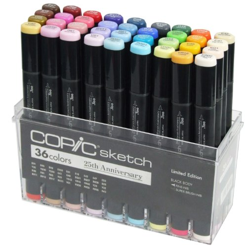 Copic Marker 36-Piece Sketch Markers Set, 25th Anniversary Limited Edition by Copic Marker