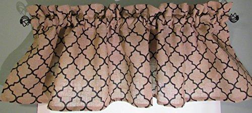 Burlap Curtain Valances Windows Collection