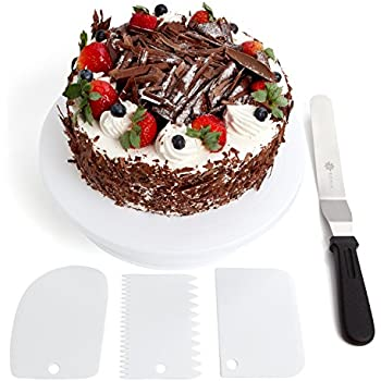 Amazon Com Rotating Cake Turntable Stand Kit 12 Inch Spinning