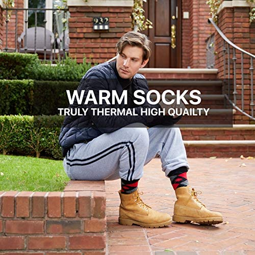 Set of three Thermal Socks for Men- Heated Cold Weather Socks Men - Warm Insulated Socks for Winter