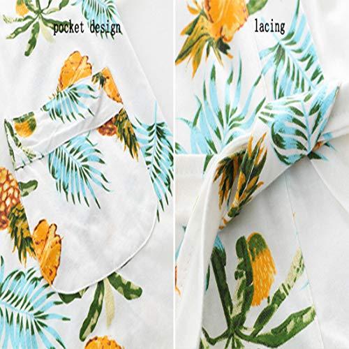 Da Sexy Deep Set Donna Loveni Di Stampa Pezzi Tre Cotton Pigiama Pigiama Vest l Yellow wWp585cxAq