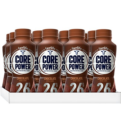(Core Power by fairlife High Protein (26g) Milk Shake, Chocolate, 11.5 fl oz bottles, 12 count)