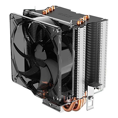 Pccooler S90F Premium CPU Air Cooler with 4 Heatpipes - Super Power CPU Heatsink - TDP 135w - 92mm PWM Fan Suitable for Mini PC Case, Intel Core i7/i5/i3, AMD Series