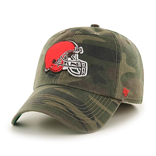 NFL Cleveland Browns Harlan Franchise Fitted Hat, Large, (Cleveland Browns Cap)